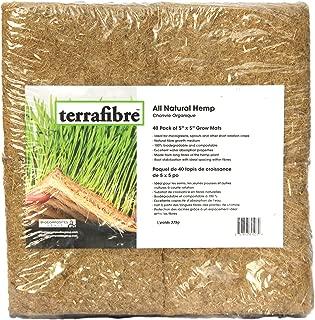 Terrafibre Hemp Grow Mat - Perfect for Microgreens, Wheatgrass, Sprouts - 40 Pack 5
