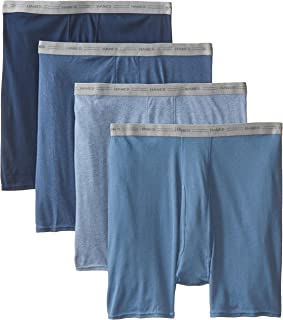 سروال داخلي بوكسر للرجال عبوة من 5 قطع من هانس، بخصر وشعار مكشوف