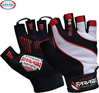 FARABI Easy Grip Weight Lifting Gloves Gym Training Fitness Workout Bodybuilding Gloves