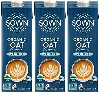 SOWN Organic Oat Creamer Vanilla - Barista Oat Milk Non Dairy Coffee Creamer - Plant Based, Dairy-Free, Vegan, Gluten-Fre...