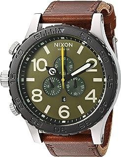 Nixon Men's '51-30 Chrono' Quartz Leather Watch, Color:Brown (Model: A1242334-00)