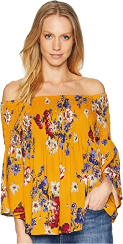 Off Shoulder Top with Bell Sleeve