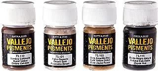Vallejo Dust & Dirt Pigment Set, 4x35ml