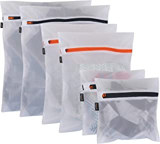 Set of 6 Mesh Bags for Laundry/Travel/Shopping/Storage, 2 Small (8x8