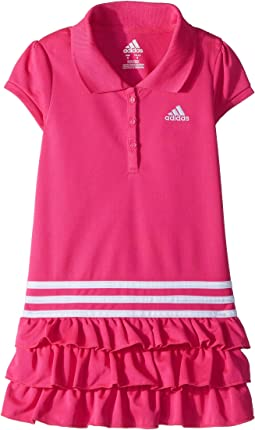 adidas Kids Ruffle Polo Dress (Little Kids)
