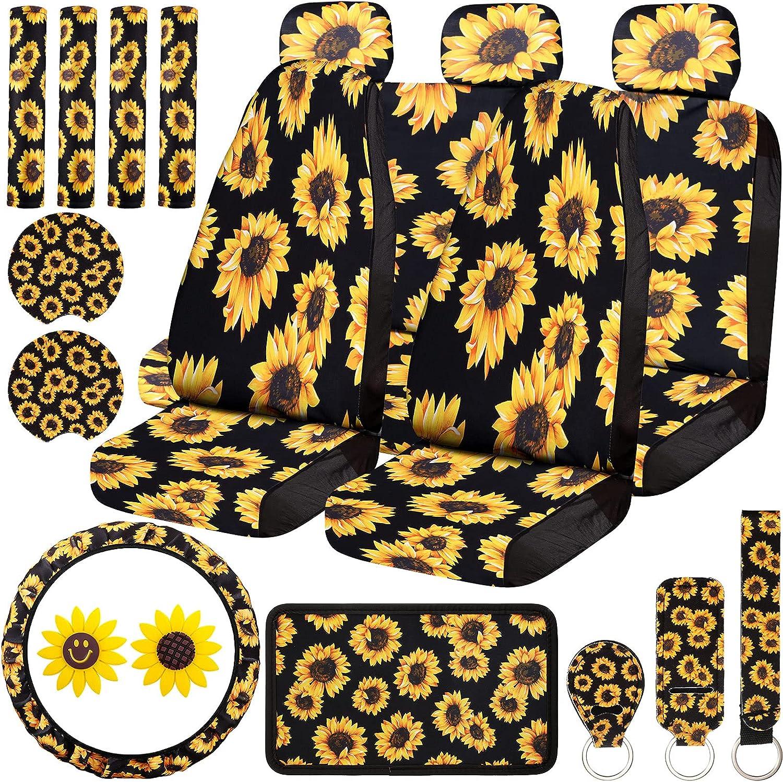 20 Pieces Sunflower 1 year warranty Car half Cove Accessories Set Seat