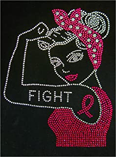 Best breast cancer bling iron on Reviews