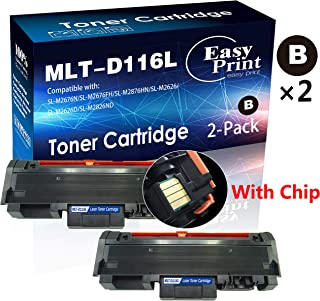 Compatible 2-Pack D116L 116L MLT-D116L Toner Cartridge Used for Samsung SL-M2825WN M2625D M2885FW M2675FN M2875FW Printer (2X Black), by EasyPrint