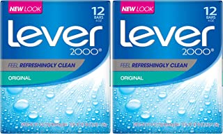 Lever 2000 Bar Soap, Original 4 oz, 12 count, (Pack of 2)