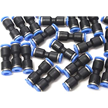 Pack of 5 Generic Push in Quick Touch to Connect Fitting 3//16 OD Tube Pneumatic Tee Union Air Coupler