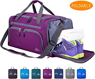 """Venture Pal 20"""" Packable Sports Gym Bag with Wet Pocket & Shoes Compartment Travel Duffel Bag for Men and Women"""