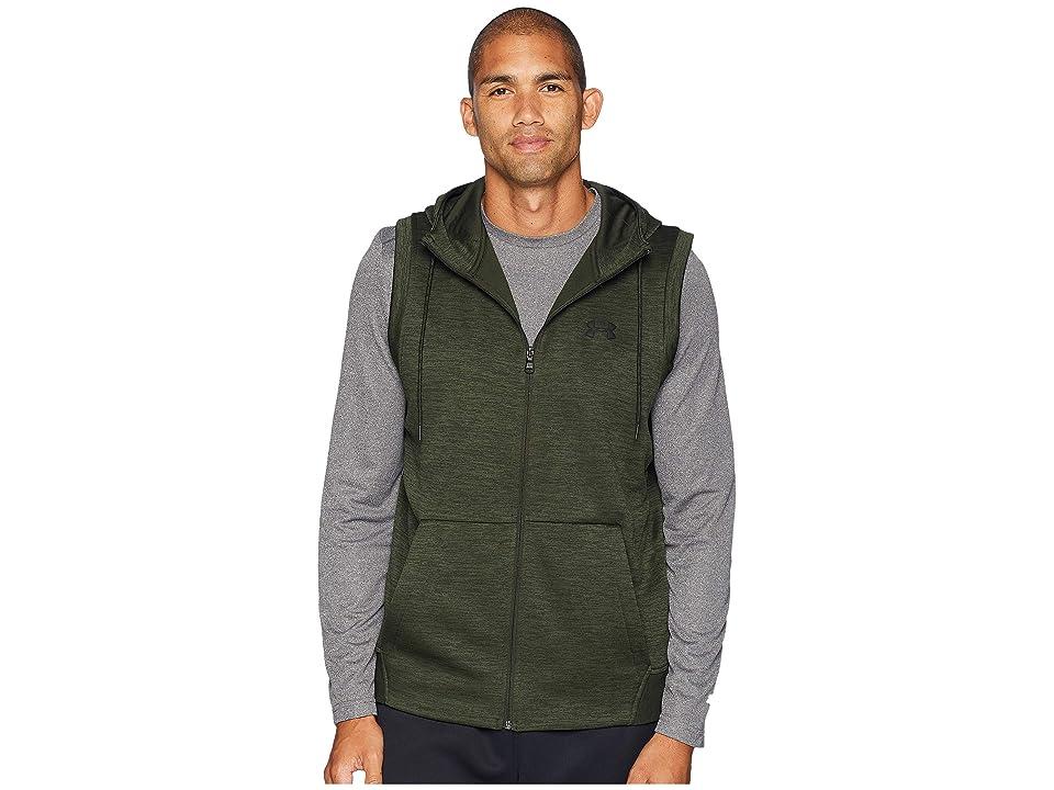 Under Armour Armour Fleece Sleeveless Full Zip Hoodie (Artillery Green/Black) Men