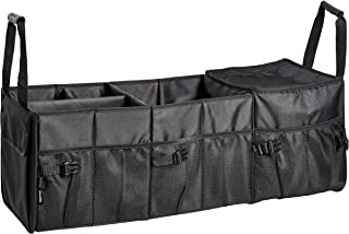 AmazonBasics Car Trunk Organizer with Insulated Cooler Bag and Adjustable Compartment