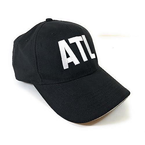 61494551f7c Mary s Monograms ATL Airport Code Performer Cap Black w Contrast Color  Sandwich