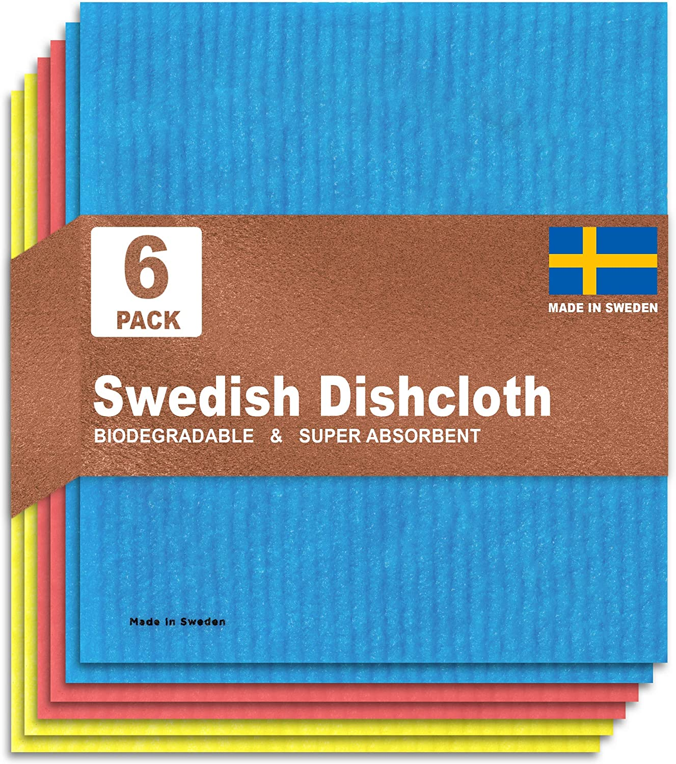 Swedish Super special price Dishcloths for Kitchen Set 6 Environmentally Friend of - favorite