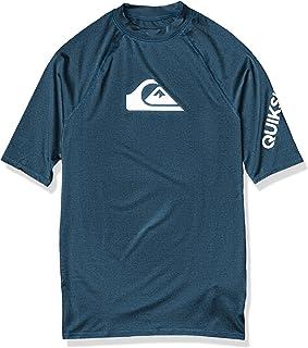 Quiksilver Men's All Time Ss Short Sleeve Rashguard Surf Shirt