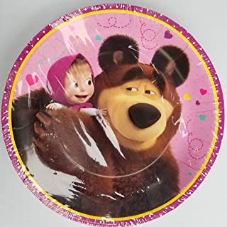 Marsha and the Bear Party Plates Paper Disposable Birthday Favors Decoration Partyware Dishware 7 in Pack of 6