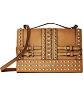 LOVE Moschino - Shoulder Bag with Belt Studs