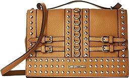 Shoulder Bag with Belt Studs