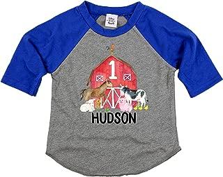 Personalized 1st Birthday Boy Outfit Farm Animal First Birthday Shirt