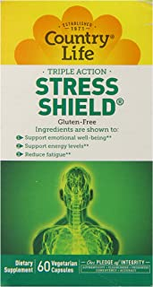 Country Life Stress Shield Vegetarain Capsules, 60 Count