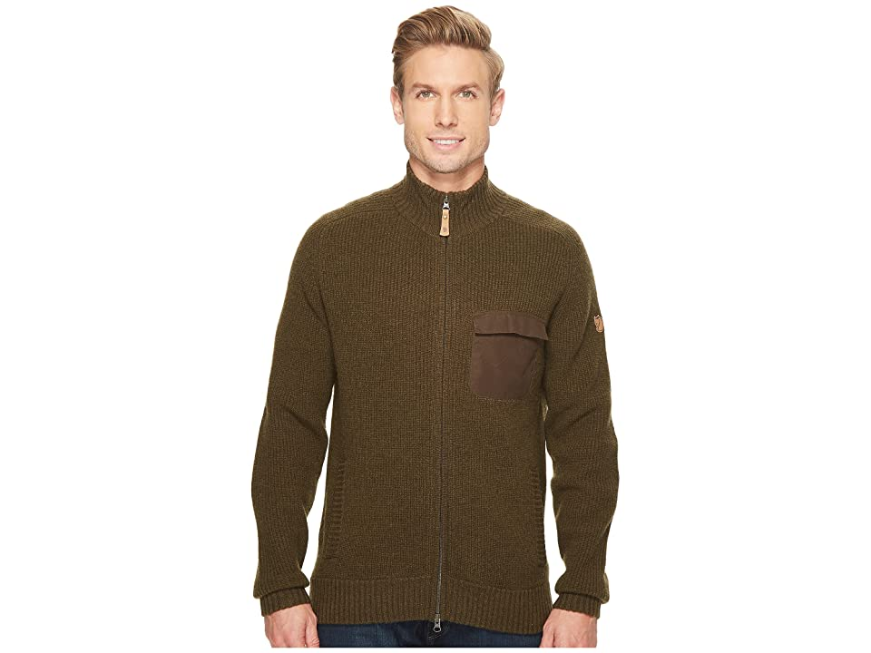 Fjallraven Sormland Zip Cardigan Jacket (Dark Olive) Men