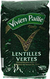 Dry Green Lentils from France 17.6oz