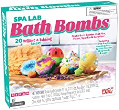 Spa Lab Bath Bombs - The Science Behind Bath Bombs - 20 Fizzy Recipes - Unlimited Experiments Using Common Household Items Available at Your Local Grocery Store - Hard-to-find Chemicals Included