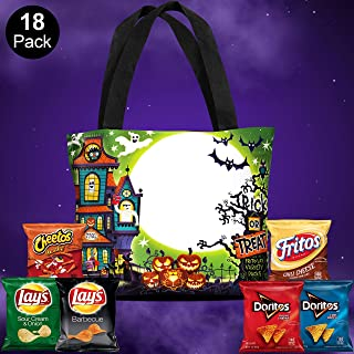 Frito-Lay Halloween Snacks Variety Pack With Special Edition Reflective Halloween Trick or Treat Bag, 18Count
