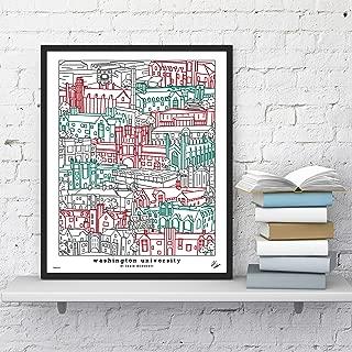 Washington University Wall Art Map Print Graduation Gift