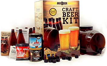 Mr. Beer 2 Gallon Complete Starter Beer Making Kit Perfect for Beginners, Designed for Quick and Efficient Homebrewing, Premium Gold Edition