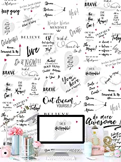 Fitspiration 24/7 Girl Power Motivational Peel and Stick Wallpaper for Women – Removable with Inspirational Quotes and Affirmations – Repositionable Wall Art – Easy to Install for Home Decor.