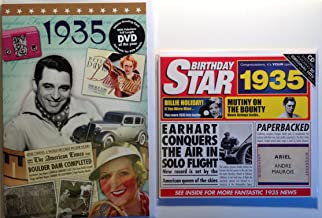 1935 Birthday Gifts Pack - 1935 DVD Film , 1935 Chart Hits CD and 1935 Birthday Card