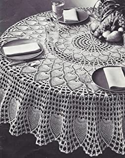 crochet round tablecloth pattern