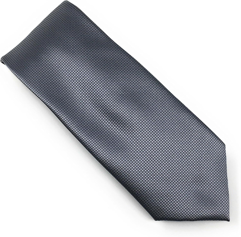 Grey Pindot 100% Silk Woven Necktie Set with Pocket Square