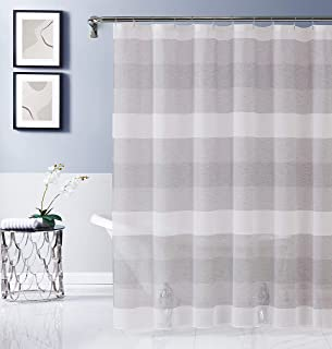 Dainty Home CHELSSCSI Fabric Shower Curtain, Silver