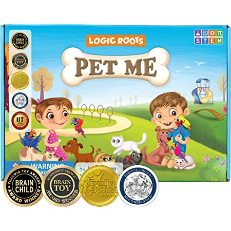 Logic Roots Pet Me Multiplication and Division Game - Fun Math Board Game for 7 Year And Above Olds, Easy Start STEM Toy, Perfect Educational Gift for Kids (Girls & Boys), Homeschoolers,Grade 1 and Up
