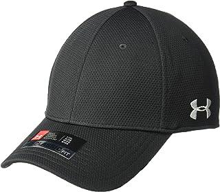 قبعة رجالي قابلة للتمدد بحافة منحنية من Under Armour، أسود (001)/أبيض، مقاس متوسط/كبير