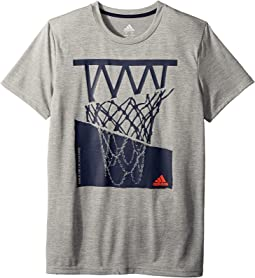 adidas Kids Hacked Hoop Tee (Big Kids)