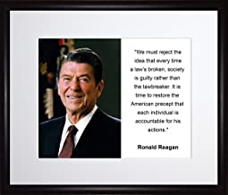 Ronald Reagan We Must Reject the Idea Quote 11x13 Matted to 8x10 Framed Picture