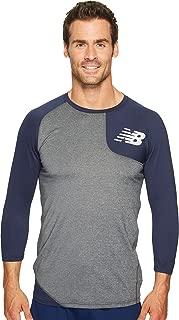 New Balance Men's Asymmetrical Left Wicking Baseball Shirt