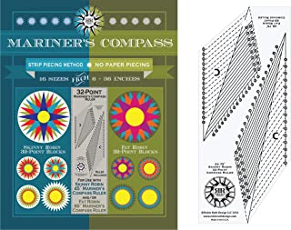 32 Point Mariners Compass Book and Ruler