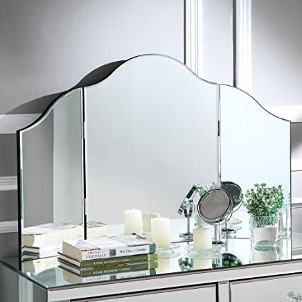 Inspired Home Giselle Tri-fold Tabletop Vanity Mirror