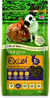 Burgess FP10006C Excel Nuggets with Oregano Adult Rabbit Food, 2 kg