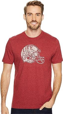 Life is Good - Football Helmet Life is Good® Crusher Tee