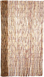FOREVER BAMBOO Reed Fencing for Garden and Backyard Landscape, Coffee, 6' H X 16' L (2-Pack)