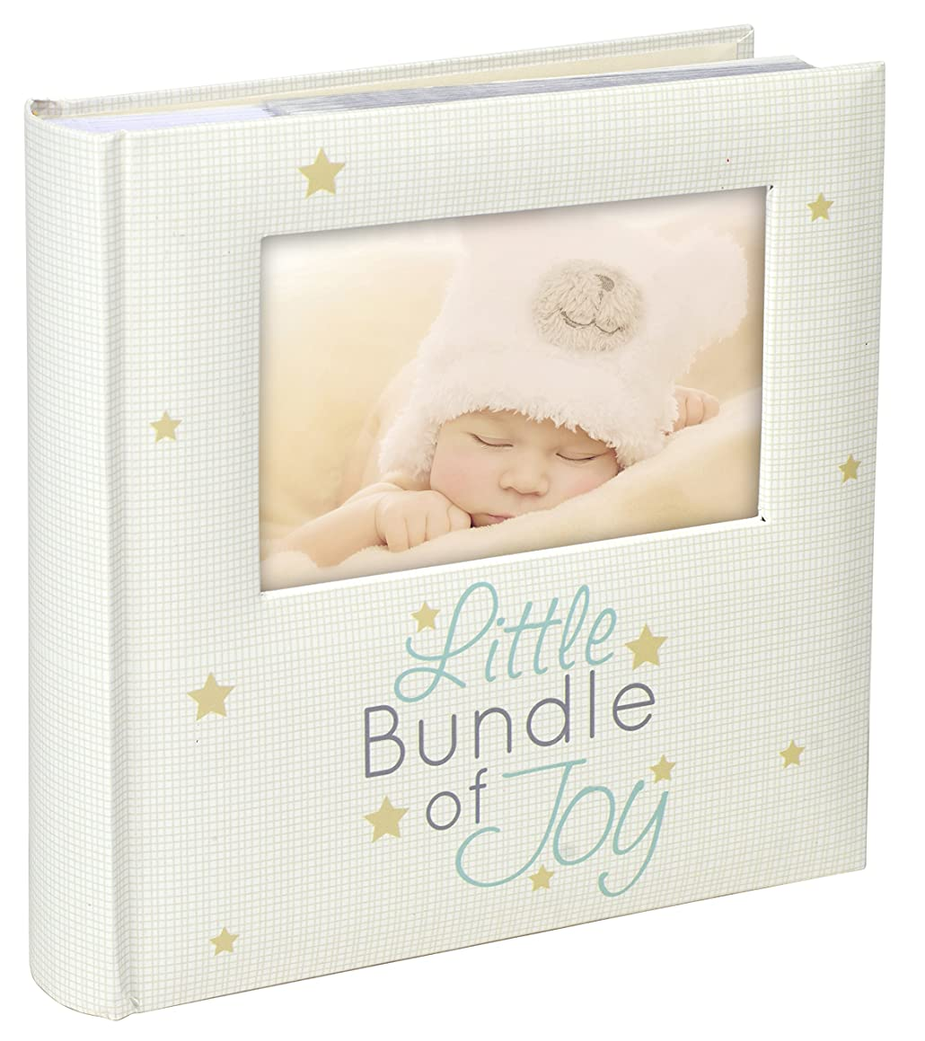 Malden International Designs Little Bundle of Joy With Photo Opening Cover Photo Album, 160-4x6, White