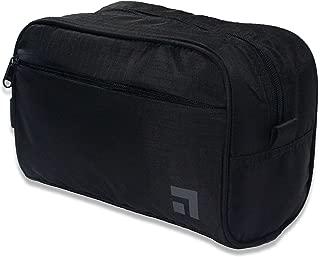 Slate Travel Waterproof Nylon Dopp Kit - Shaving Toiletry Bag Organizer (Black)
