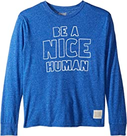 Be A Nice Human Mocktwist Long Sleeve Tee (Big Kids)