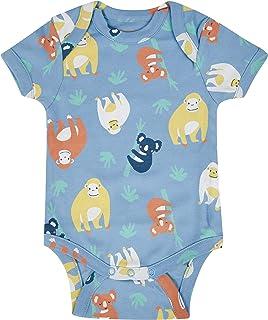 Piccalilly Body bébé manches courtes coton bio doux imprimé orang-outan nouveau-né à 18-24 mois